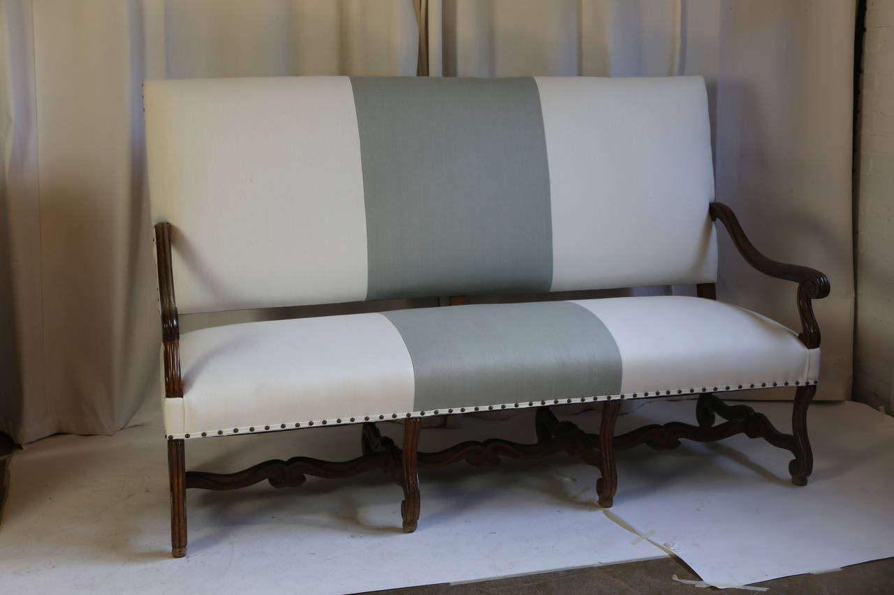 Late 19th century louis xiv style sofa in linen for sale at 1stdibs - Louis xiv sofa ...