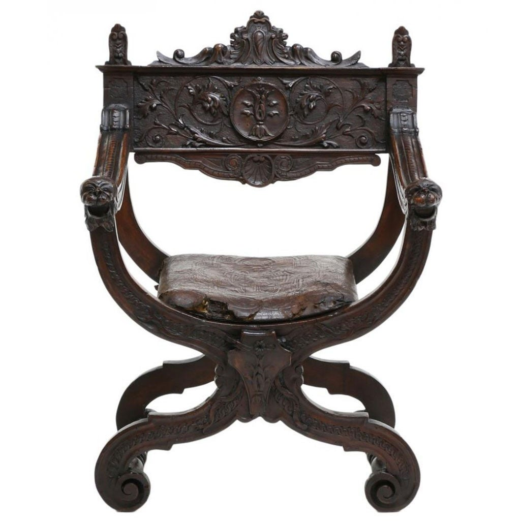 French Dagobert Style Chair At 1stdibs