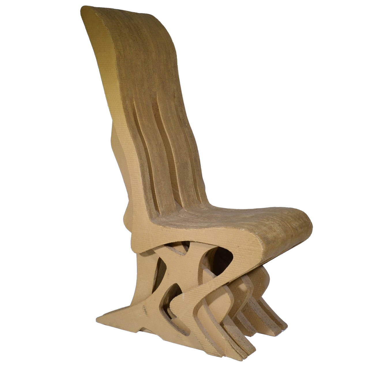 cardboard chair in the style of frank gehry at 1stdibs