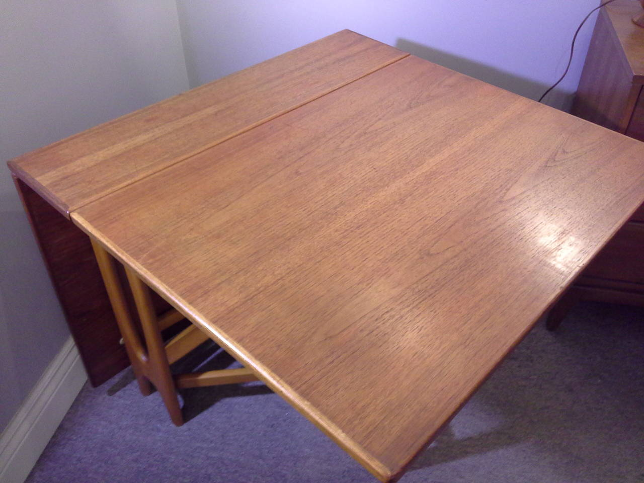 Mid-20th Century Teak Mid-Century Modern Bruno Mathsson Style, Drop-Leaf Dining Table