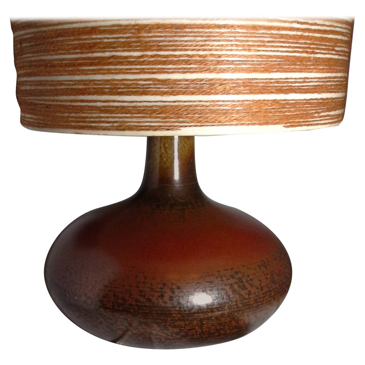 Original Lamps lotte mid-century ceramic table lamp with original shade in a