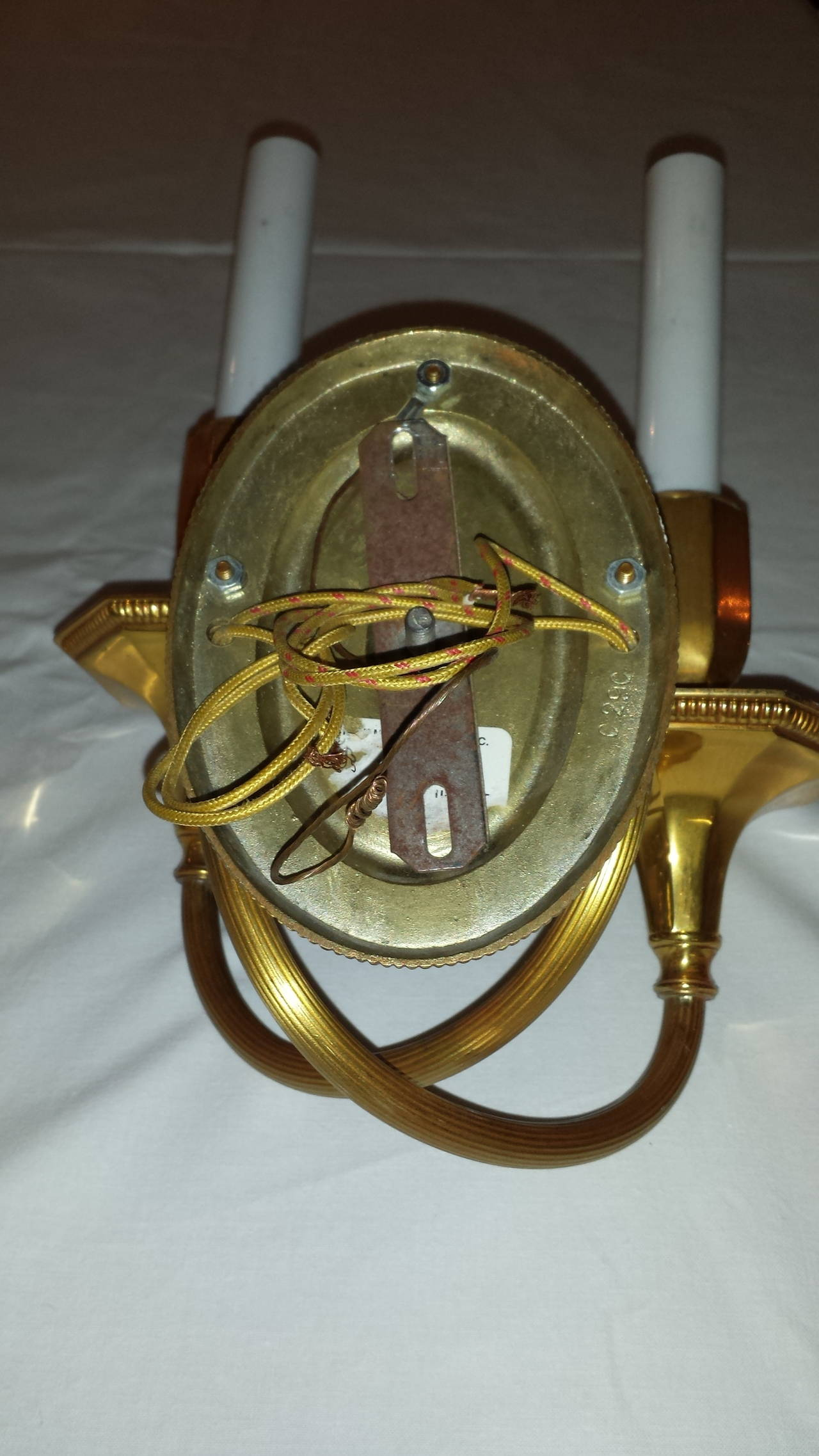 Solid Brass, Double-Arm Wall Sconces For Sale at 1stdibs