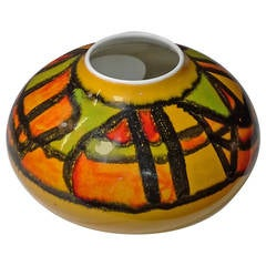 Poole Pottery Vase in a Geometric Pattern