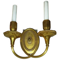 Solid Brass, Double-Arm Wall Sconces