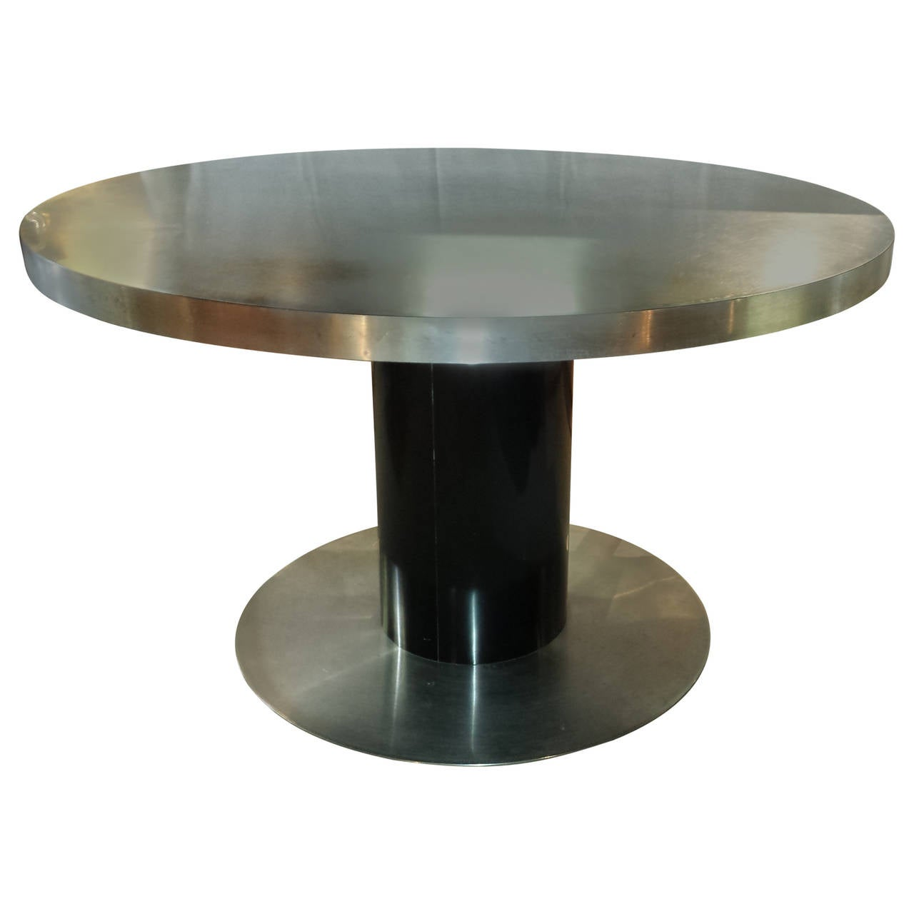 Mid century italian designed table by willy rizzo in black for Table willy rizzo