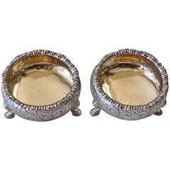 Sterling Silver and Gilt Pair of Open Salts by Robert Gray & Son, Glasgow 1847