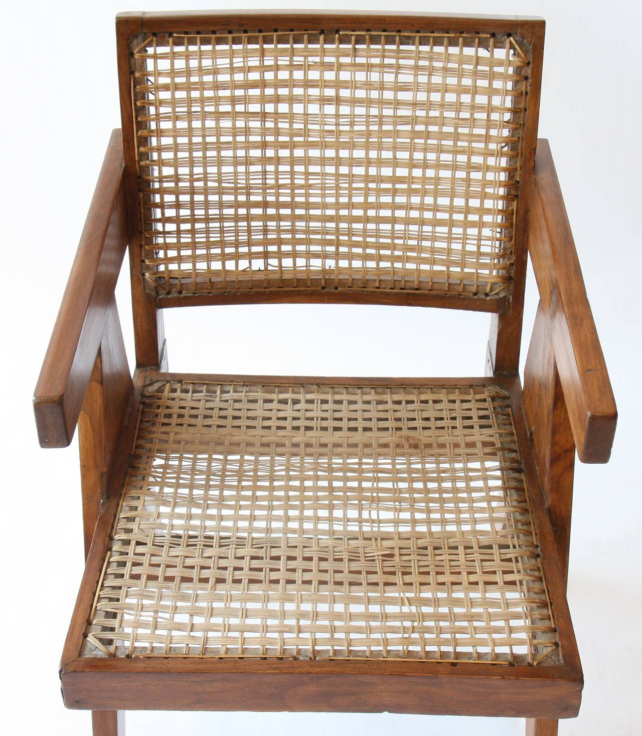 Mid-20th Century Office Cane Chair by Pierre Jeanneret For Sale