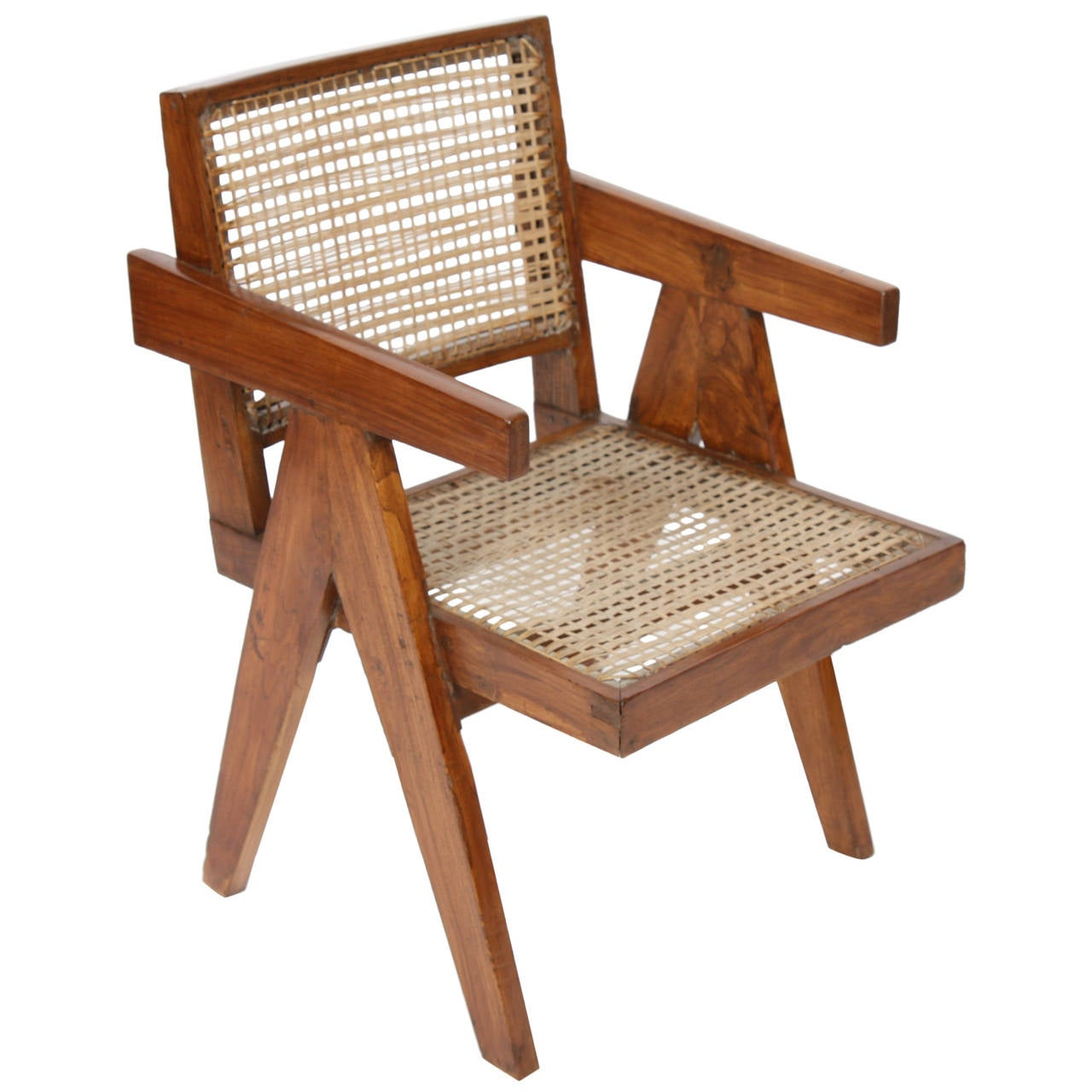 Office Cane Chair by Pierre Jeanneret For Sale