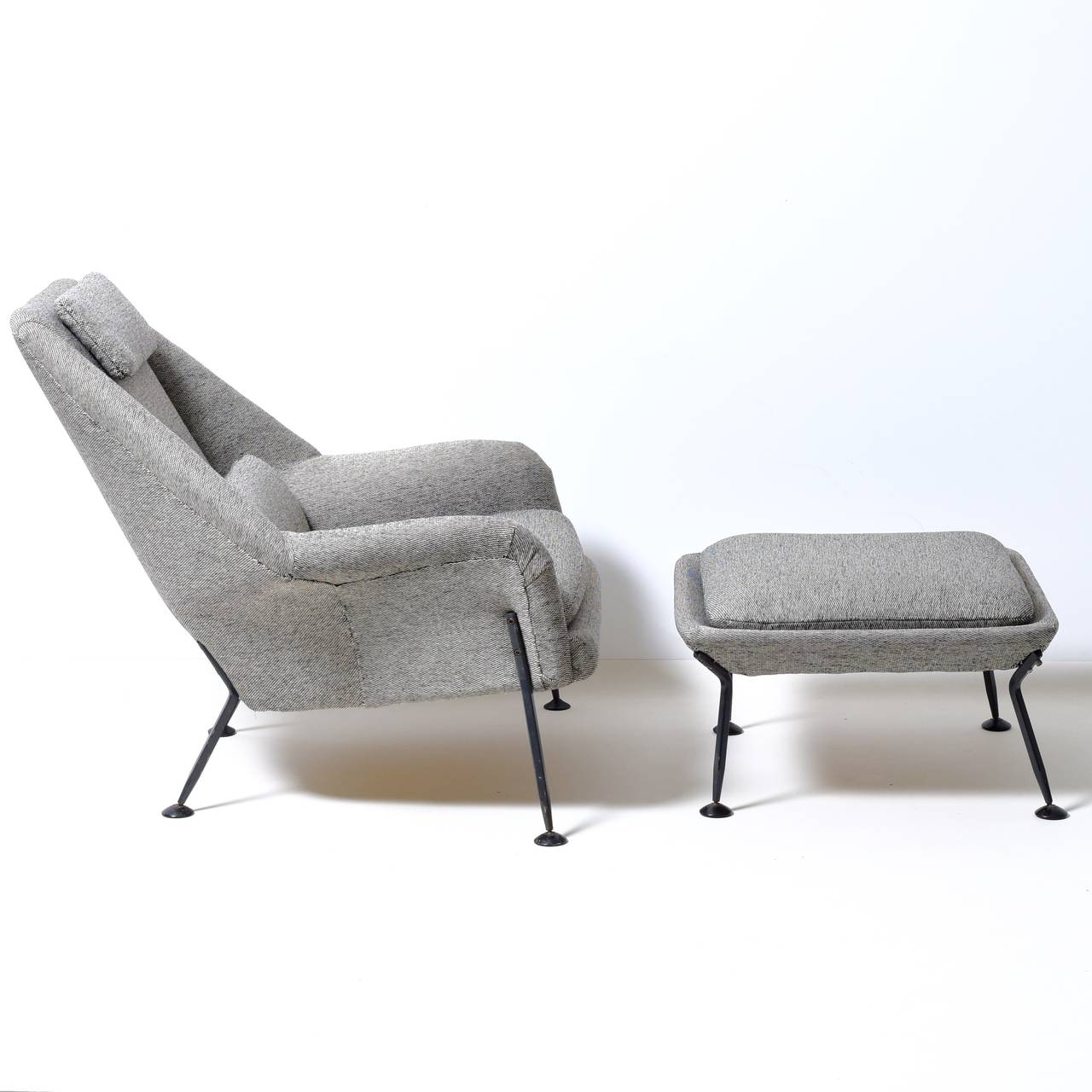 Woven Ernest Race Heron chair & footstool