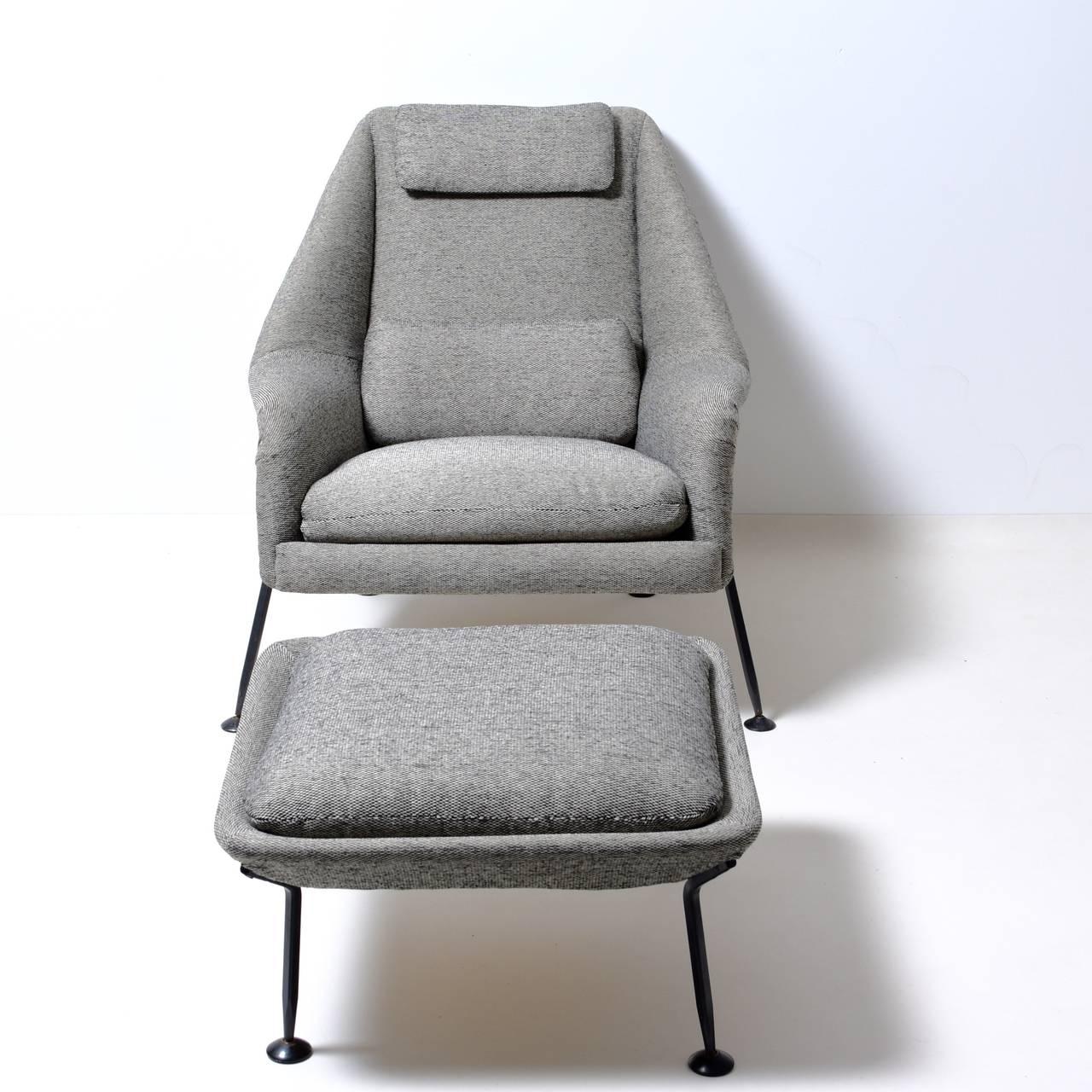 Fabric Ernest Race Heron chair & footstool