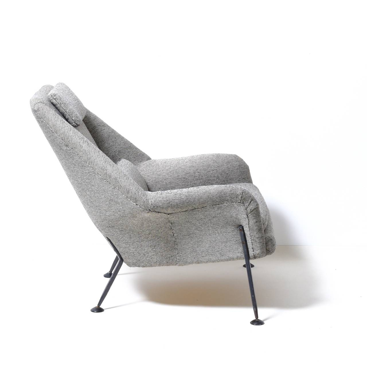 Mid-Century Modern Ernest Race Heron chair & footstool