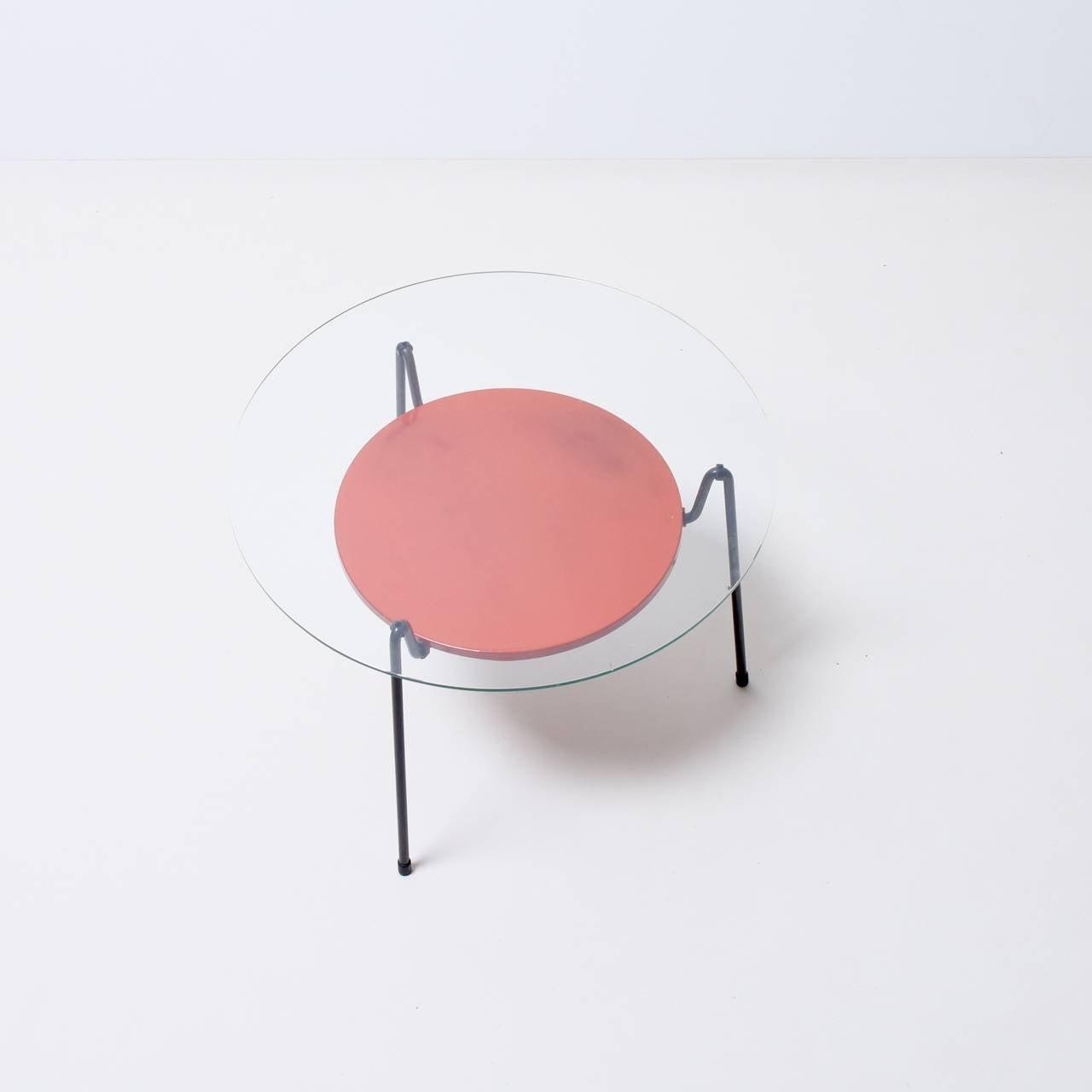 Wim Rietveld Mug Steel Coffee Table At 1stdibs