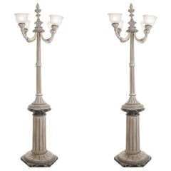Pair of Italian Painted Wood Lamps