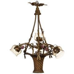 French Bouquet Chandelier, circa 1920