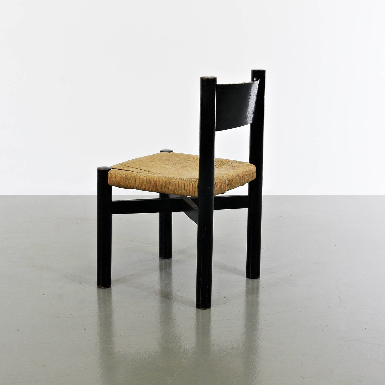 Dinning chair, model Meribel, designed by Charlotte Perriand around 1950.