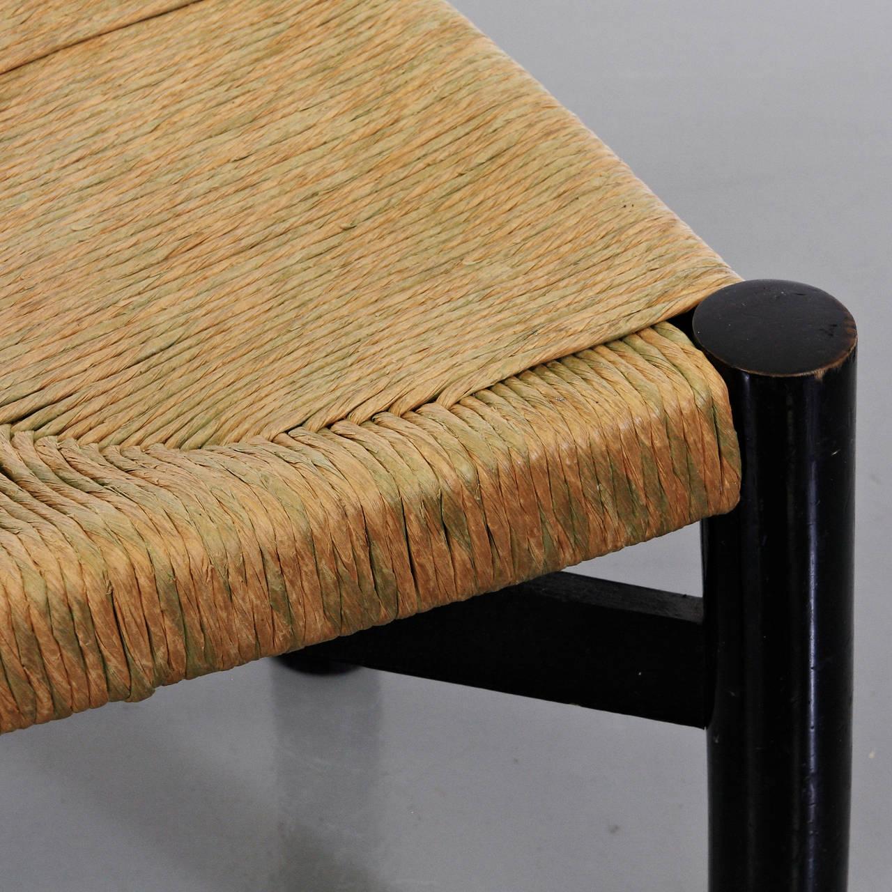 Rare Charlotte Perriand Low Meribel Chair, circa 1950 6
