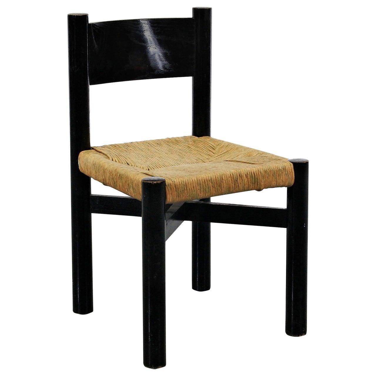 Rare Charlotte Perriand Low Meribel Chair, circa 1950