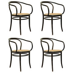 Set of Four Thonet 209 Chairs by Auguste Thonet for Thonet