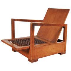 Rare Bas Van Pelt Easy Chair, circa 1930