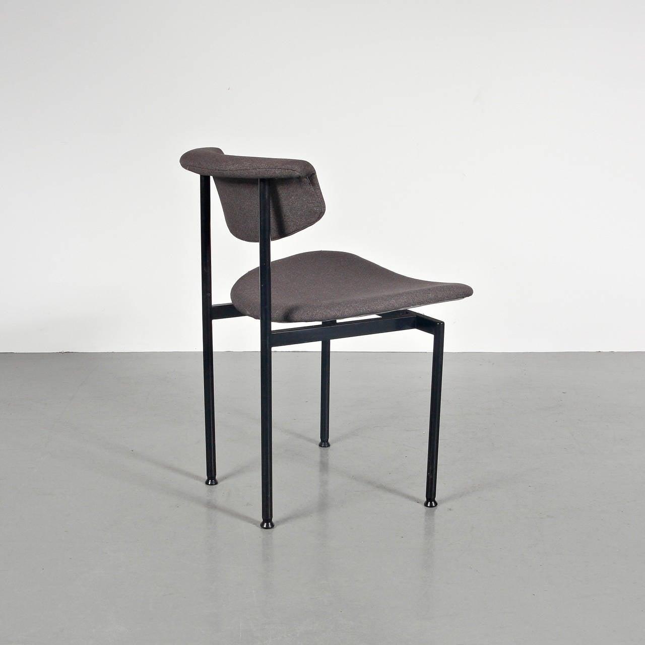 Dutch Set of 8 Rudolf Wolf Dining Chairs, circa 1960