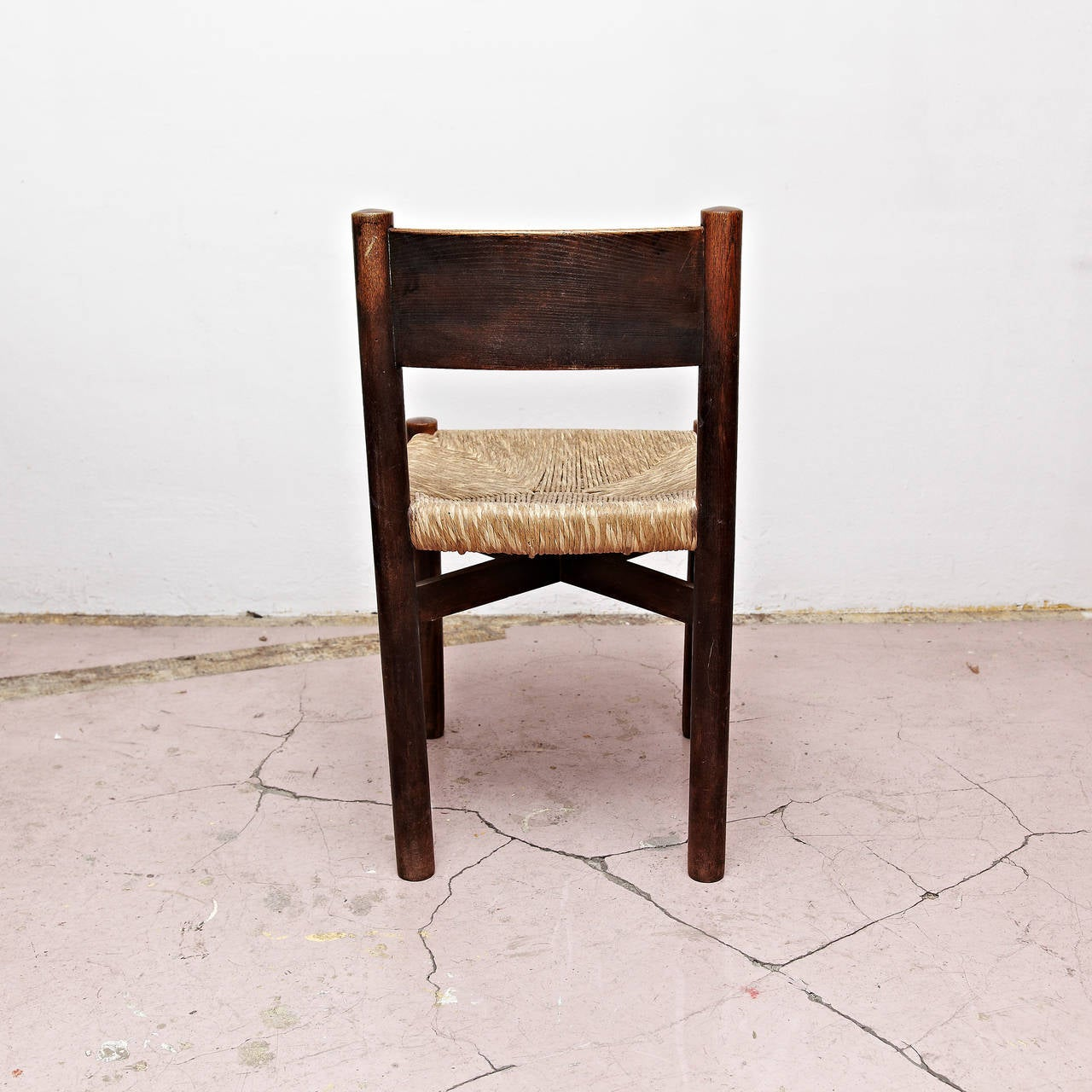 Mid-Century Modern Set of Five Charlotte Perriand Meribel Chair, circa 1950 For Sale