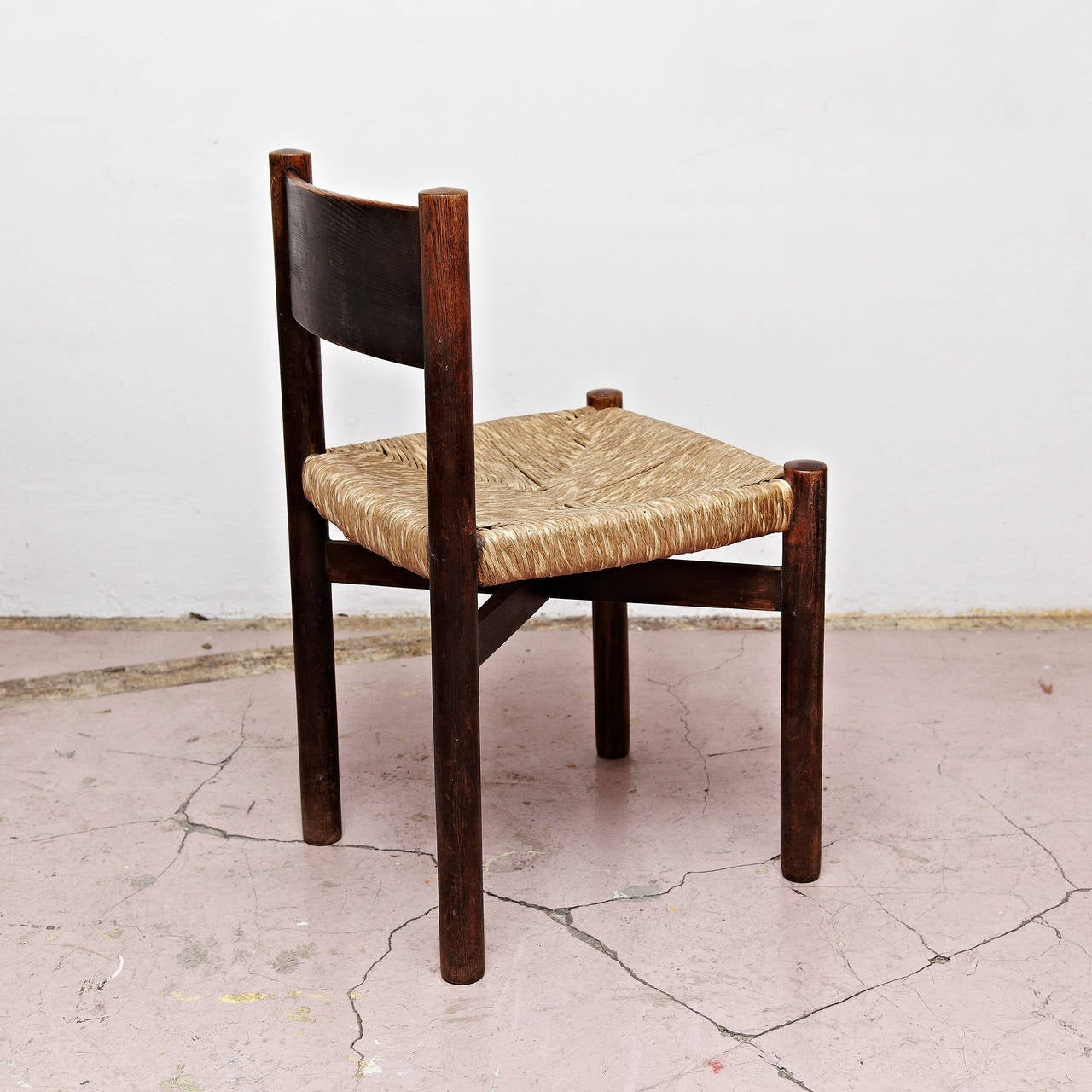 Mid-20th Century Set of Five Charlotte Perriand Meribel Chair, circa 1950 For Sale