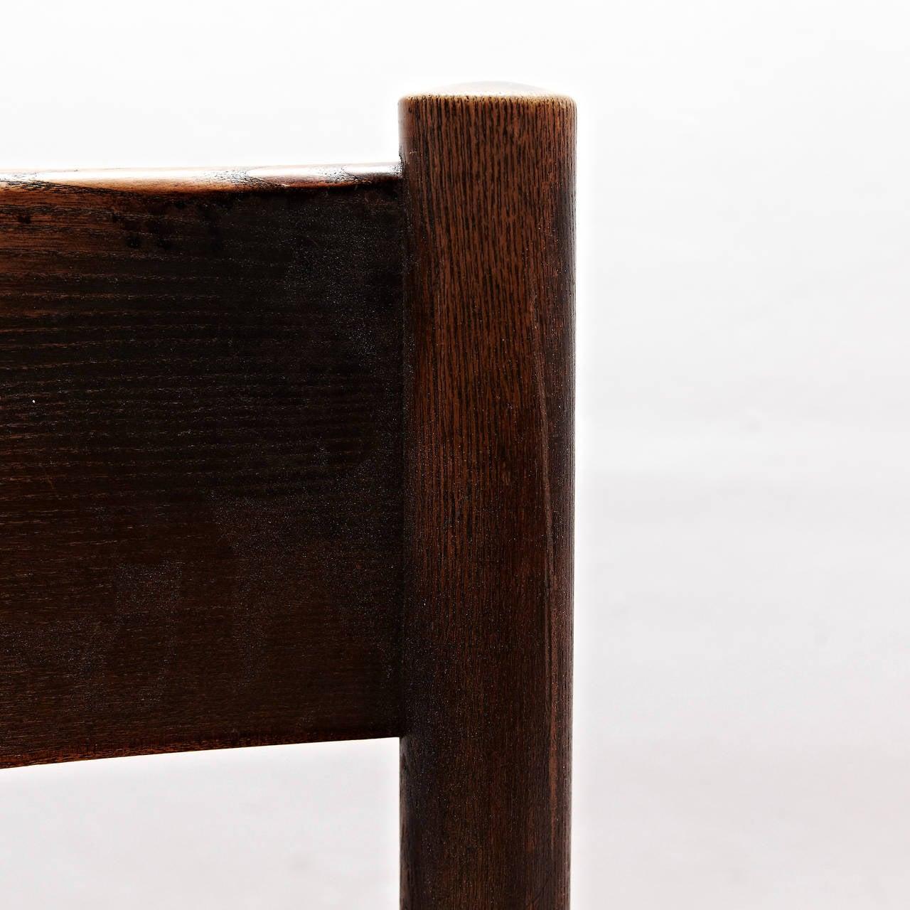 Set of Five Charlotte Perriand Meribel Chair, circa 1950 For Sale 1
