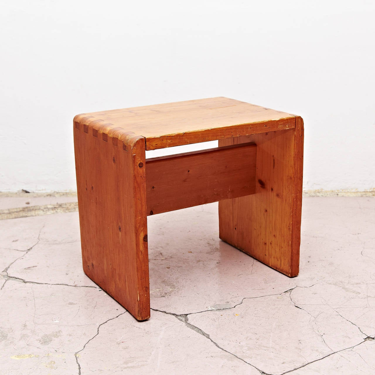 French Charlotte Perriand Stool for Les Arcs For Sale