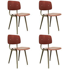 Set of Four Friso Kramer Revolt Chairs, 1953