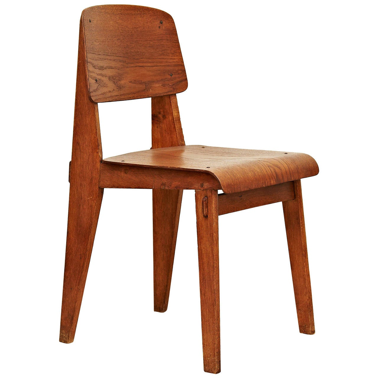 Jean Prouvu00e9 Standard Chair u0026quot;Tout Boisu0026quot;, 1941 at 1stdibs