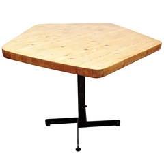 Charlotte Perriand Pentagonal Table for Les Arcs