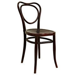 J.J. Kohn Art Noveau Bentwood Chair, circa 1880, Austria
