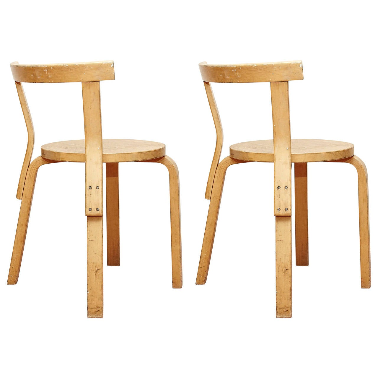Alvar Aalto Pair Of Bentwood Chair For Artek 1960s At 1stdibs