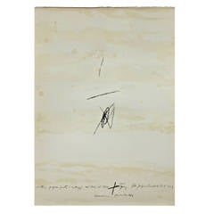 Antoni Tàpies Lithography, Cartrons, Papers, Fustes, Collages del 1946 al 1964
