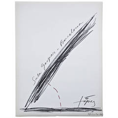 Antoni Tàpies Lithograph, Exibition1969