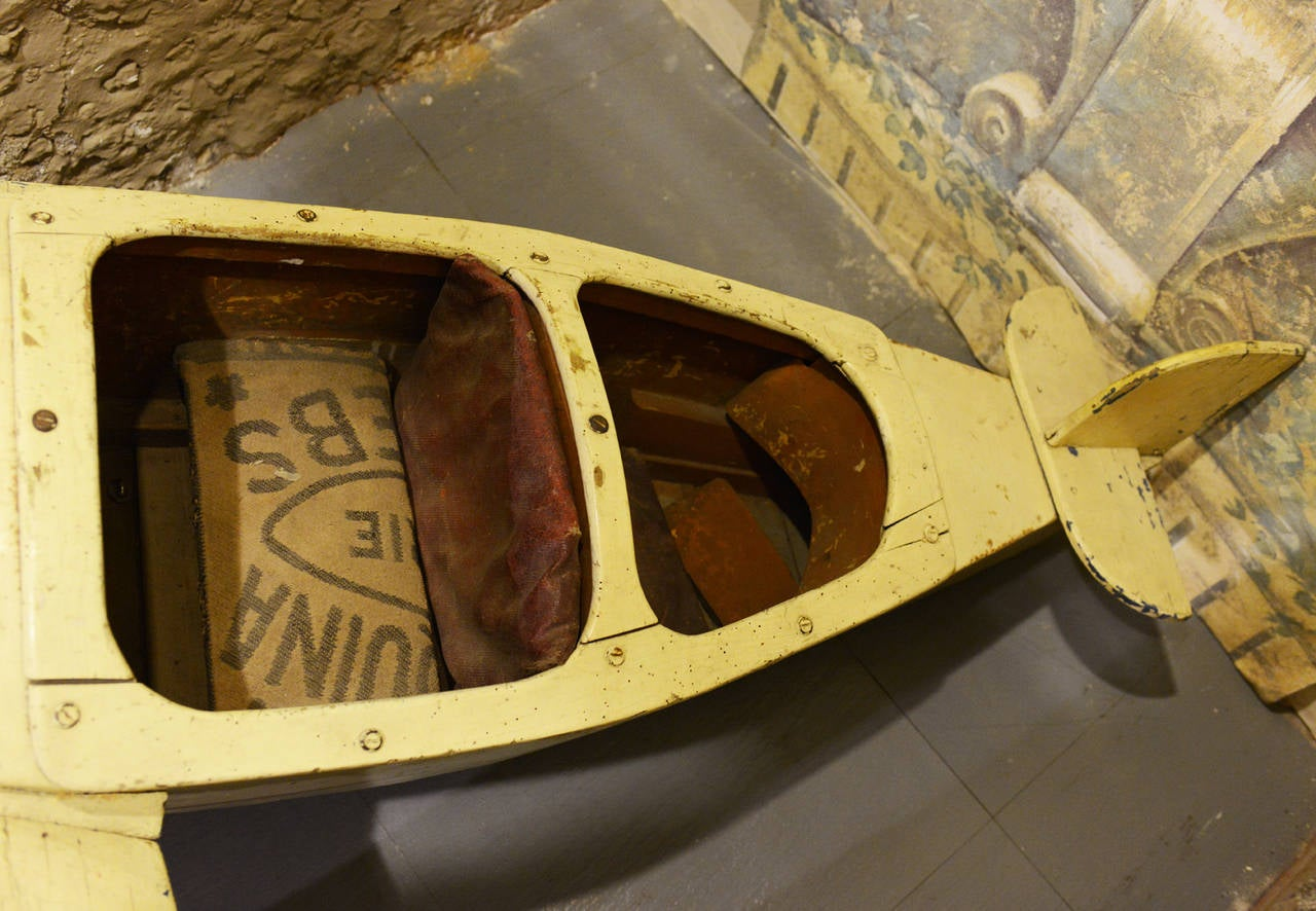 Mid-20th Century Two-Seat Aircraft Collector's Item Forain Art Exceptional Piece For Sale