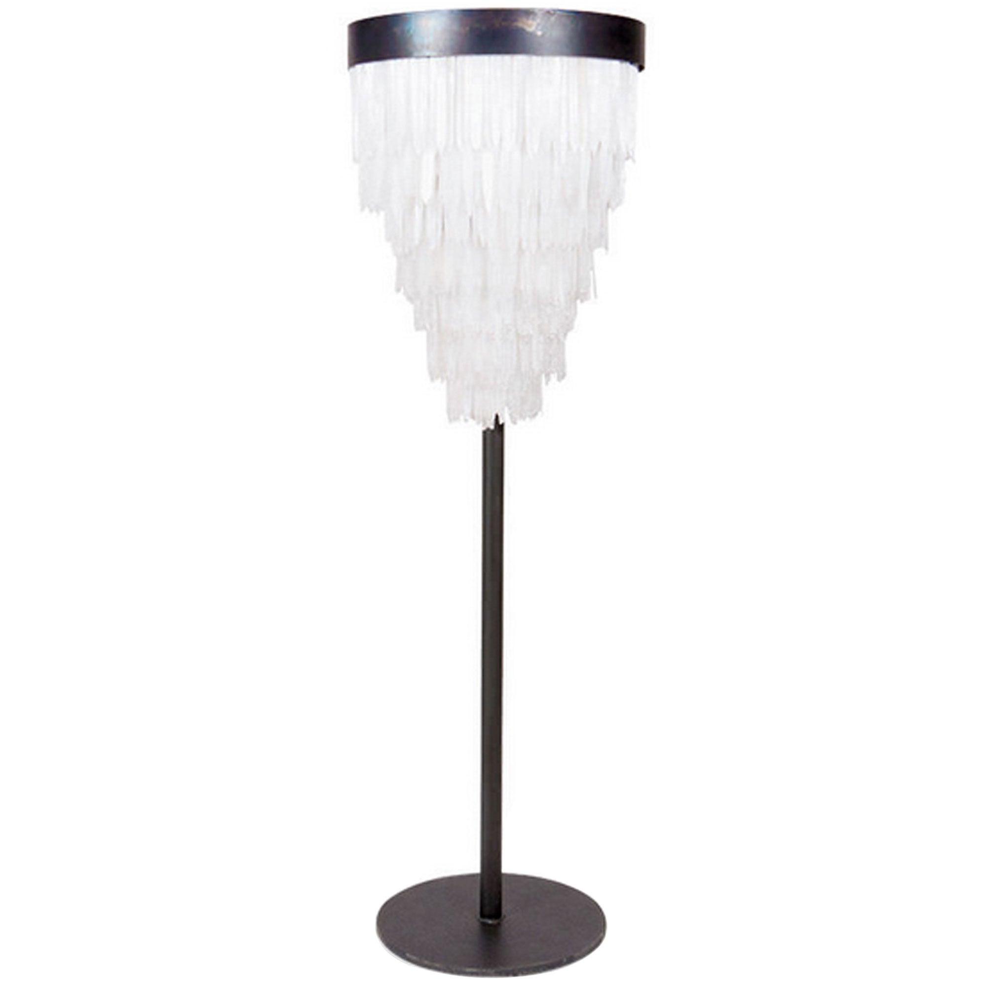 Floor Lamp Crystal in Selenite