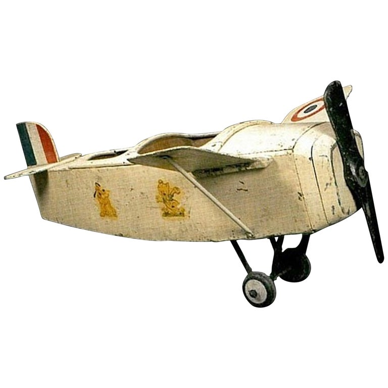 Two-Seat Aircraft Collector's Item Forain Art Exceptional Piece For Sale