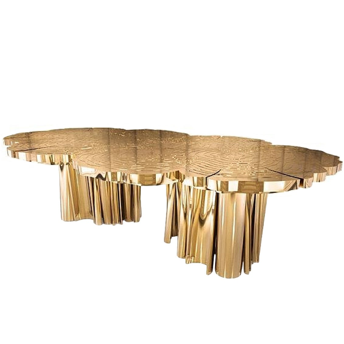 Dining or Conference Table in Polished Brass and Gold  : FortunaDiningTable2 1 from www.1stdibs.com size 1131 x 1131 jpeg 86kB