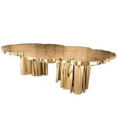 Dining or Conference Table Gold Dipped in Polished Brass