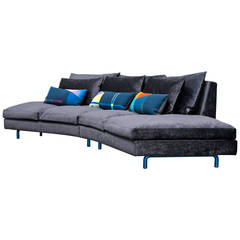 21st Century Sofa Stan Piece with Three Aubusson Tapestry Cushions