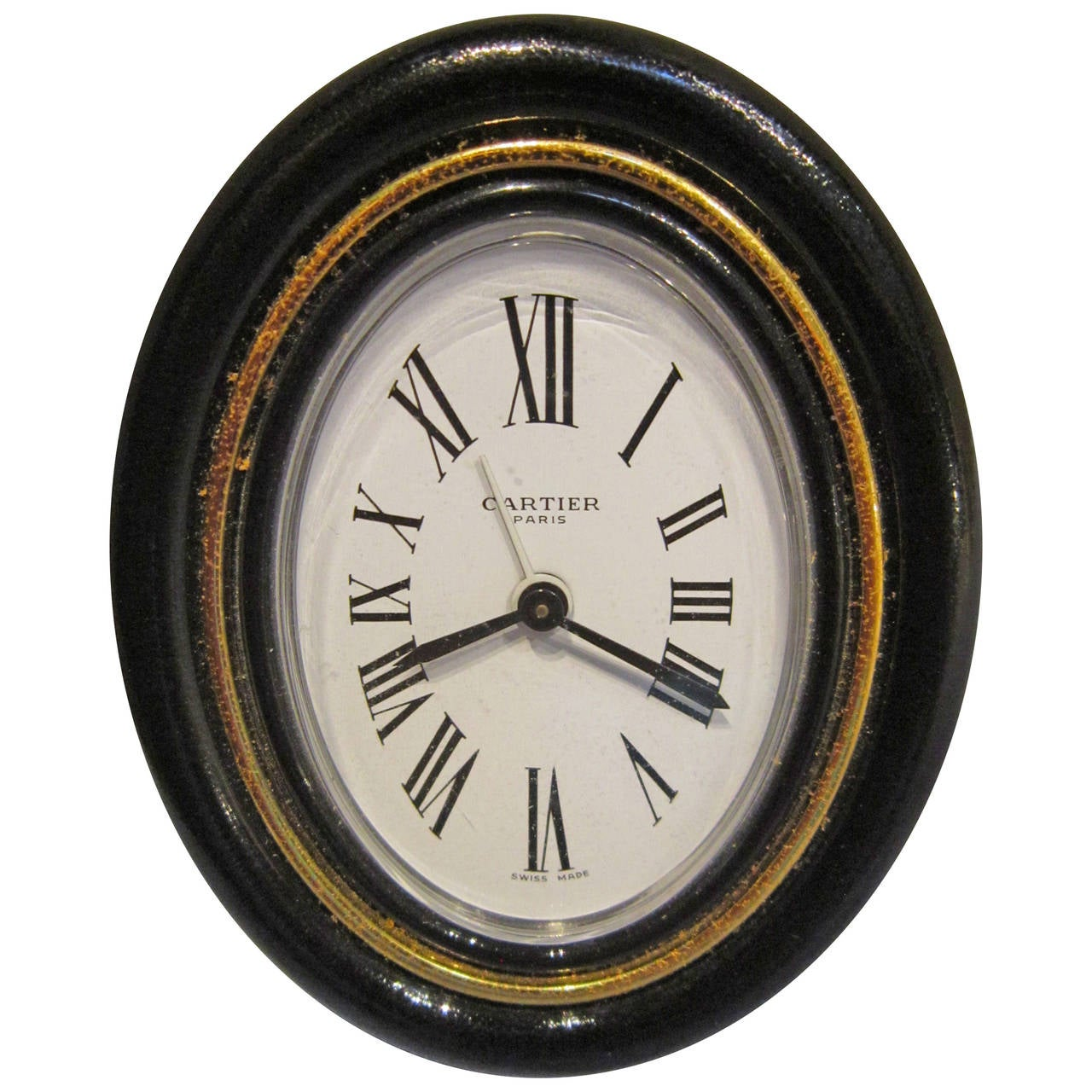 Vintage Cartier Pendulette Travel Alarm Clock And Case At