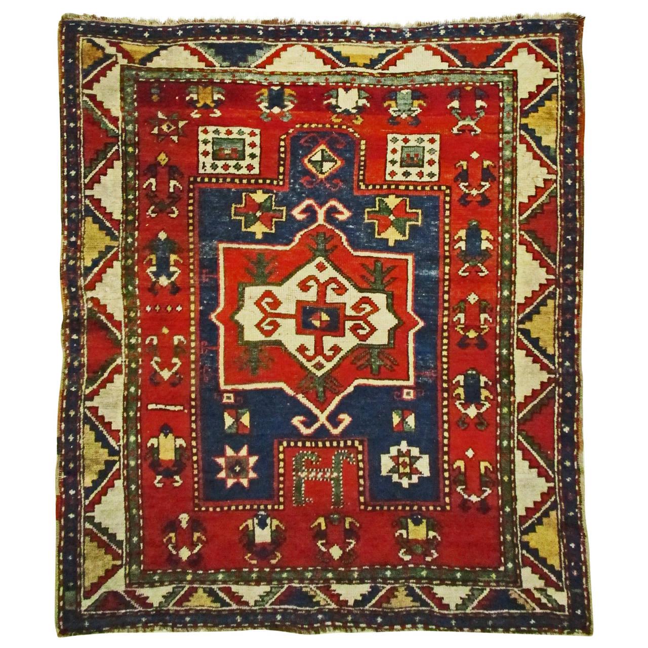 Fachralo Kazak Prayer Rug Last Quarter Of 19th Century At