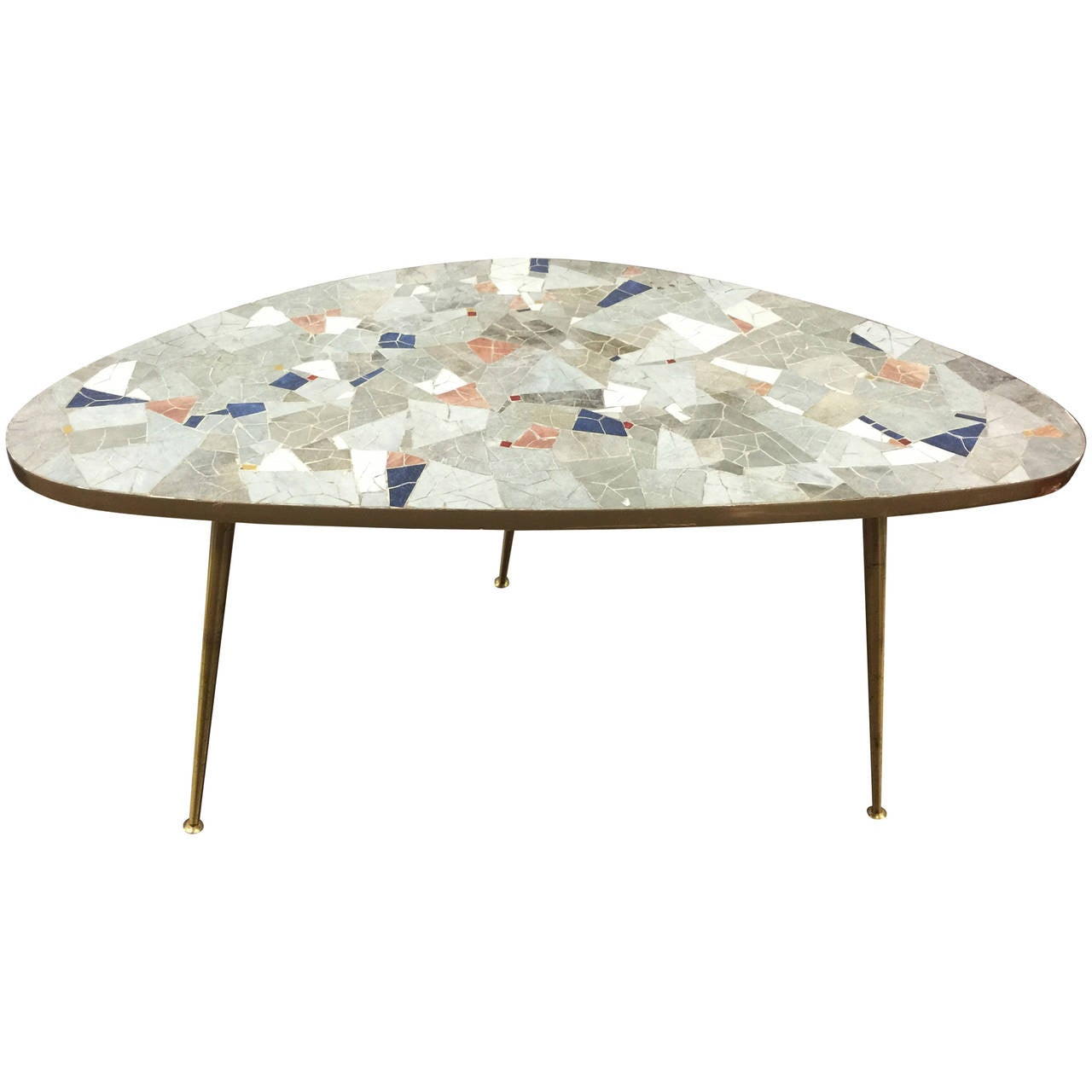 Paloma Mosaic Coffee Table: A Midcentury Kidney Shaped Mosaic Tile Table In The Manner
