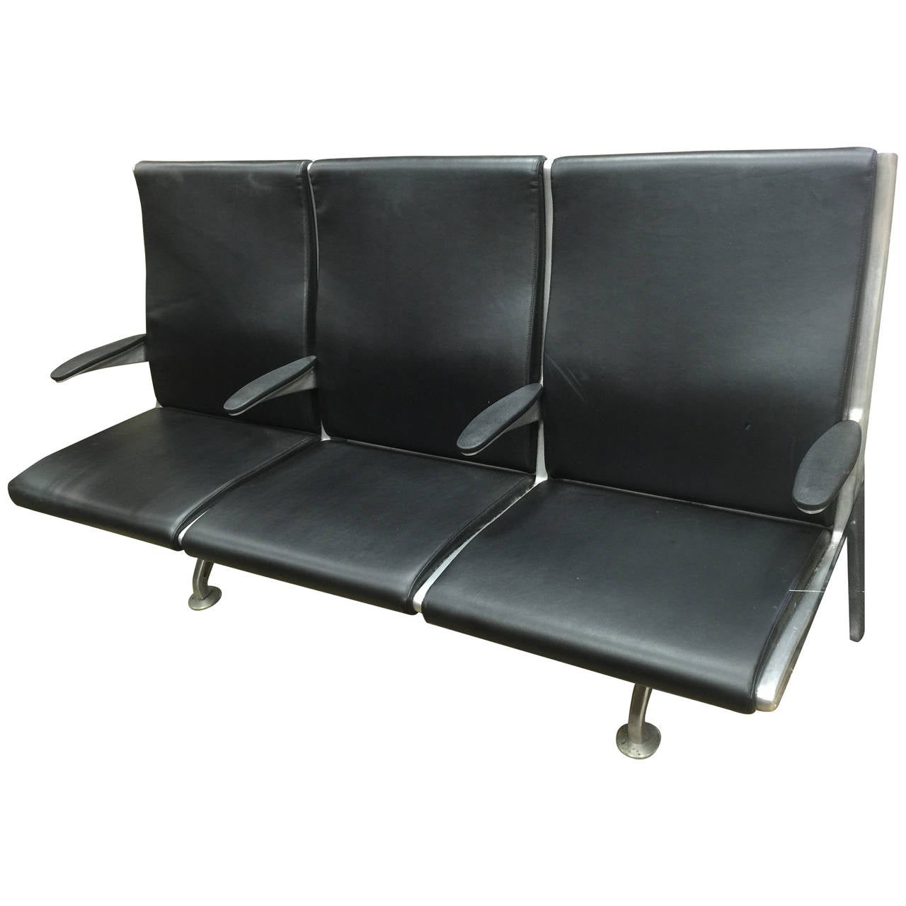 Herman Miller Style Airport Bench At 1stdibs