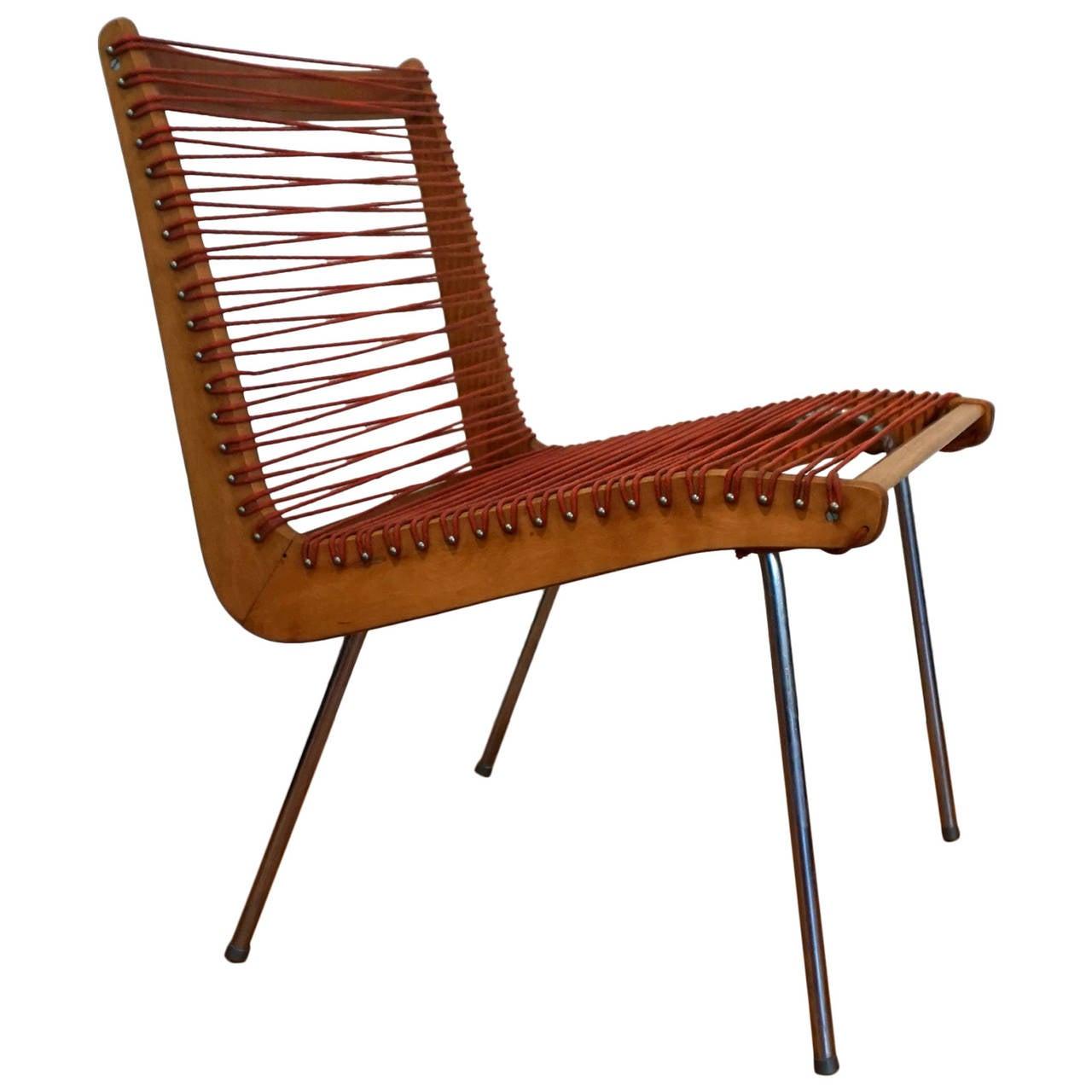 1950 MoMA Good Design String Chair By Robert J Ellenberger For CALFAB 1