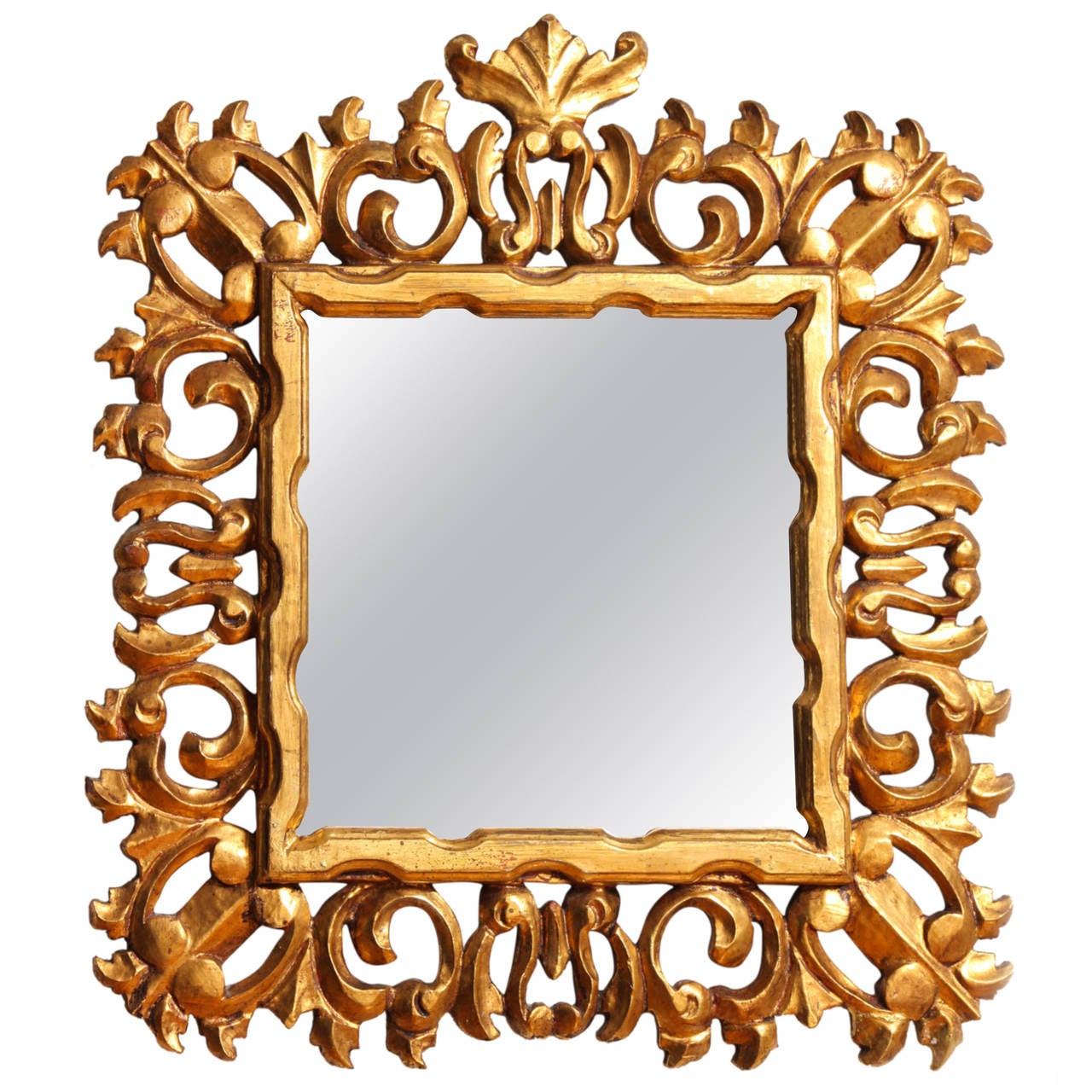 Carved and gilded italian baroque style mirror frame for sale at carved and gilded italian baroque style mirror frame for sale jeuxipadfo Images