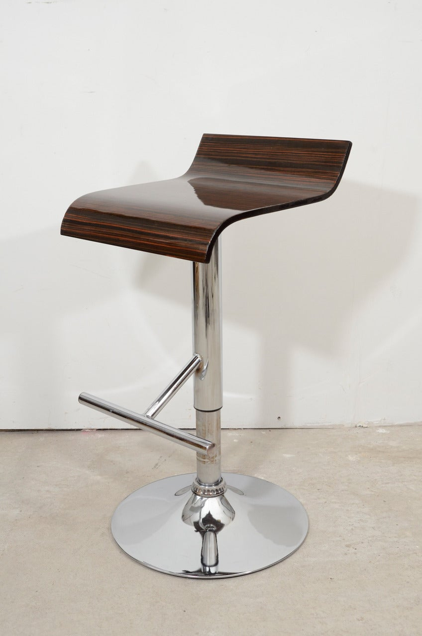 Set Of Five French Macassar Ebony Seated Stools With