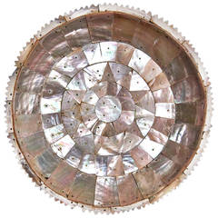 Indo-Portuguese Mother-of-Pearl Dish, Gujarat, Mughal Period, 17th Century