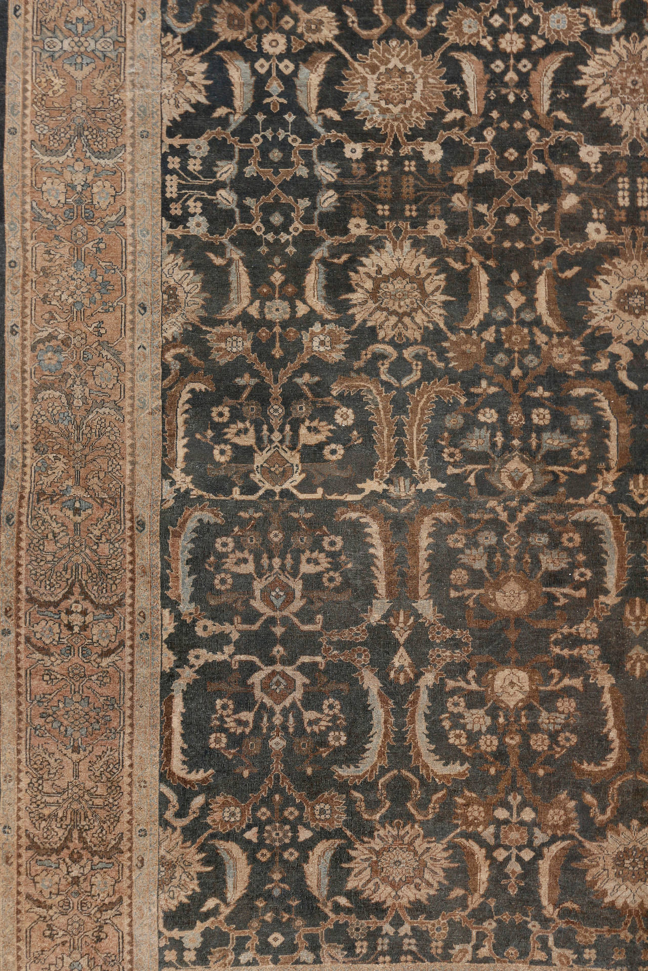 Antique Square Sultanabad Rug Circa 1890 For Sale At 1stdibs